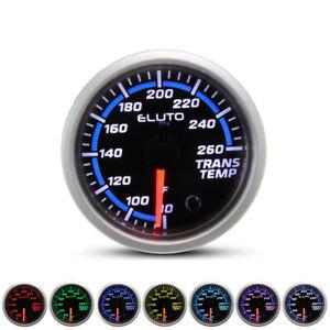 "2"" 52mm Transmission Temperature Gauge Kit Trans Temp Meter 7 Color LED Display"