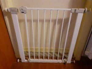 Cancelletto di sicurezza protezione per bimbi bambini in metallo Bianco