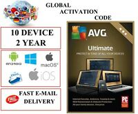 AVG ULTIMATE 2021 10 Device 2 YEAR EU / DE / GLOBAL KEY CODE (EMAIL DOWNLOAD)