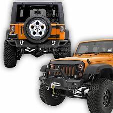 "Front Bumper+Rear Bumper+Winch Plate+2"" Hitch+D-rings For 07-17 Jeep JK Wrangler"