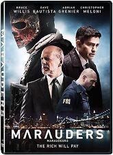Marauders (DVD) Bruce Willis, Dave Bautista, Adrian Grenier NEW