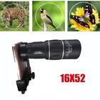 16x52 Zoom Dual Focus Monocular Telescope Lens Camera HD Scope+ Phone Holder New