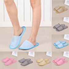 Hotel Disposable Supplies Summer Home Linen Slippers Breathable Platform Shoes^