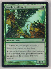 MTG Magic DST FOIL - Infested Roothold/Souches Infestées, French/VF