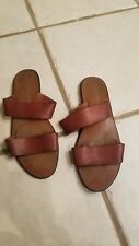 the leather collection vintage made in Colombia slats Sandal size 8