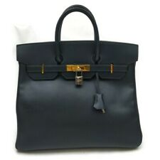 Hermes Hand Bag Veau Graine Couchevel Navy Blue 1213545
