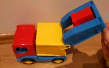 Wader Garbage Truck with red dustbin Dustbin truck toy
