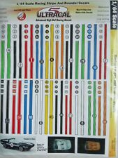 Ultracal Die Cut Peel and Stick HO Scale Racing Stripes Numbers Decal Sheet