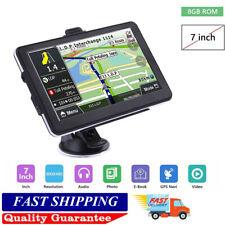 "7"" Navigator SAT NAV Car Truck HGV GPS Navigation 8GB Free EU&US Map FM Speedcam"