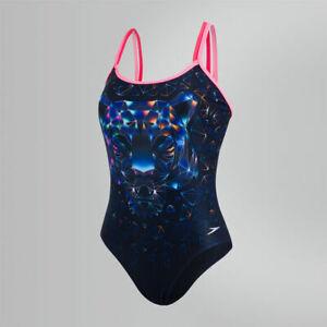 Womens Ladies Speedo Swimsuit Swimming Costume Black New Size 14 / 36