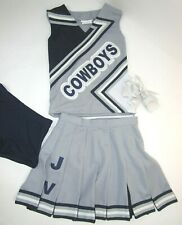 Dallas COWBOYS Cheerleader Uniform Outfit Costume Yth Sz 12 Pleated Skirt +Brief