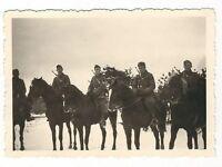 6/78  FOTO DEUTSCHE SOLDATEN 1940 PFERD REITER GEWEHRE