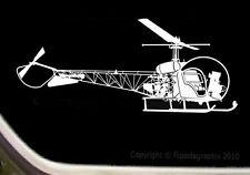 Bell Model 47G Helicopter Pilot Window Airplane Decal-Sticker SK-R-012