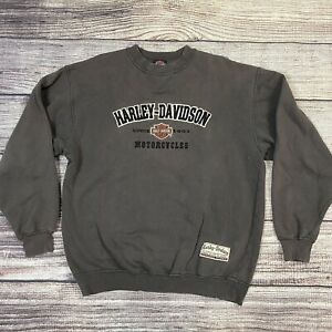 Vintage Harley Davidson Black Crewneck Sweatshirt Size Men's M 90s 1990s Biker