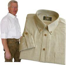 Trachtenhemd mit Hirschhornknöpfen Hemd mit Krempelärmel Oktoberfest