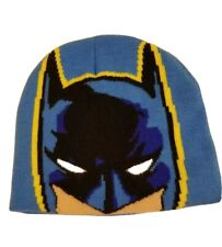 DC Comics Batman Beanie Cap Winter Hat Youth Kids Toddler size 2T-5T Blue