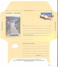 AUSTRALIA 4 AEROGRAMMES MINT; MAJOR CONSTRUCTIONS OF 20th CENTURY; c 1990's
