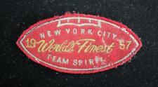 """Vintage 1957 New York WORLD'S le Plus Fin Rouge et Doré Patch 4 1/2 """" X 2 """""""