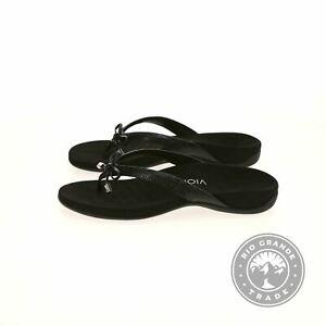 NEW Vionic 10010448BLK8M Women's Rest Bella II Toepost Sandals in Black - 8