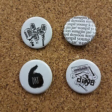 DAY6 1.25 Inch Buttons Badges Set of 4 KPOP Fanmade Merch JYP Nation 데이식스