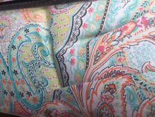 Cynthia Rowley Turquoise Floral Paisley 6p KING Comforter Shams toss pillow set