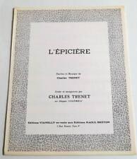 Partition vintage sheet music CHARLES TRENET : L'épicière * 60's