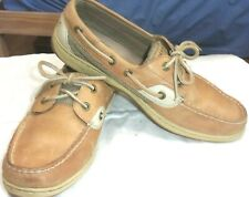 Women's size 9M Sperry top-sider, leather, boat shoes