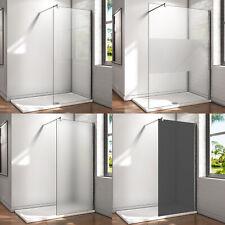 8/10mm Walk in Duschwand Dusche NANO ESG Glas Duschkabine Duschabtrennung 200cm