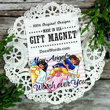 May Angels Watch Over You * Blessing for FRIENDS USA New DecoWords Fridge Magnet
