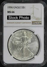 1996 American Silver Eagle $1 NGC MS-66 -149565