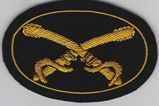 Civil War Kepi Hat Insignia - Cavalry Officer's Small w/ Free $20 Double Eagle