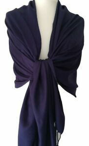 Navy Pashmina Ladies Dark Blue Wrap Shawl Large Scarf Wedding Prom Accessory