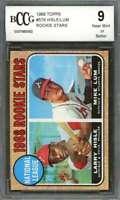 Larry Hisle - Mike Lum Rookie Card 1968 Topps #579 Atlanta Braves BGS BCCG 9