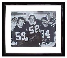 STEELERS ~JACK HAM~JACK LAMBERT~ANDY RUSSELL AUTOGRAPHED 16X20 FRAMED PHOTO COA