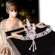 Silver Ivory Great Gatsby Daisy 1920s Vintage Flapper Headpiece Headband New