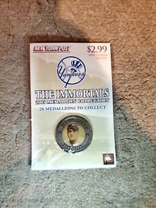 2005 NY YANKEES BABE RUTH New York Post Medallion Sealed The Immortals Mint