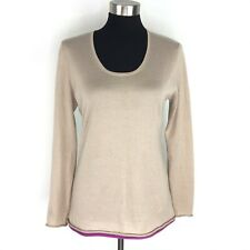 Saks Fifth Avenue Womens Large Thin Soft Silk & Cashmere Blend Sweater