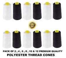 Overlocking Sewing Machine Industrial Polyester Thread 4000 Yard / 3660 M Cones