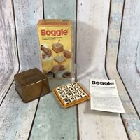 Vintage Boggle Word Game, Parker Brothers 1978 With Instructions