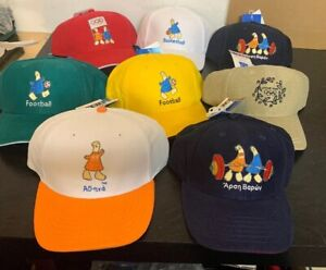 Lot Of 8 Official 2004 Athens Greece Olympic  Caps Hat Athena NWT