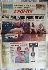 L'Equipe Journal 31/12/1987; Dakar, Neveu/ Sella, Béziers/ NOah-Leconte