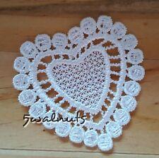 10pcs Ivory Vintage Guipure Venise Embroidered Lace HEARTS Applique Motif Trim
