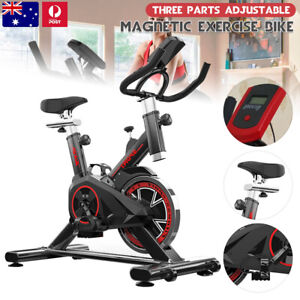 Spin Bike Exercise Bike Flywheel Fitness LCD Display For Home Indoor Workout Gym