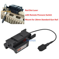 Red Dot Laser sight Tactical 20mm picatinny Weaver Rail Mount Pistol Gun w/Tail