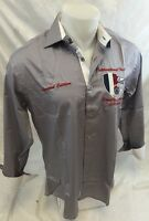 Mens Long Sleeve Button Down Shirt Gray ROYALTY Limited Edition Yacht Tour NWT