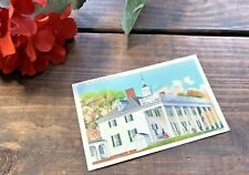 Vintage Linen Postcard, Mt. Vernon, Home of George Washington,Virginia 1930s