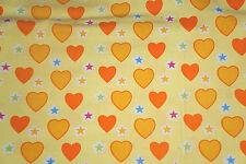 Heart Print Finewale Corduroy Apparel Fabric By the Yard Bfab