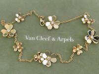 Van Cleef & Arpels 18Kt Frivole Flower Diamond YG Necklace .69Ct VCA BOXES!