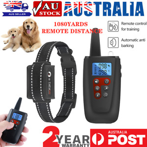 Electric Pet Dog Training E-Collar Anti-Bark Obedience Remote Control - AU STOCK
