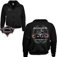 * Biker Zip Jacke Sweatshirt Bobber Harley-Chopper-Motiv Custom Motorrad *4219